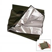 USGI Silver/Olive Drab Combat Casulaty Blanket, Lightweight THUMBNAIL