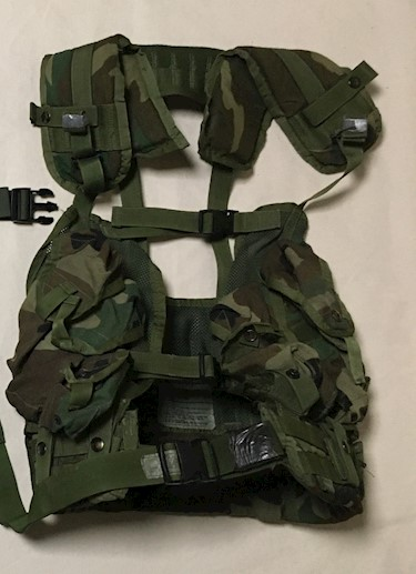 LBV Enhanced Tactical Load Bearing Vest LBV WITH Padded Brokos Battle War Belt LARGE