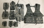 ACU MOLLE USGI Fighting Load Carrier Vest FLC  w Hydraton carrier AND 7 pouches THUMBNAIL