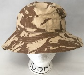 Genuine Issue British DPDM Army Tropical UBACS Boonie / Sun Hat THUMBNAIL