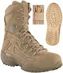 Reebok Coyote Brown Stealth Side Zip SWAT Boot Safety Toe THUMBNAIL
