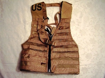 Tactical Zipper FLC Molle Vest Desert MAIN