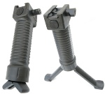 Grip-Pod Military Poly/Steel Bi-Pod, Black