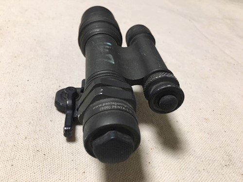 1 US NightVision PentagonLight MD2 Xenon NVGLight with A.R.M.S. Mount SWATCH