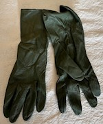 Marine Corp Olive Drab Leather Gloves THUMBNAIL