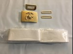 Marine Corp Dress Blue Belt with all Brass THUMBNAIL