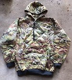 Woobie Hoodie Multicam 100% Nylon Ripstop w 100% Polyester batting for warmth THUMBNAIL
