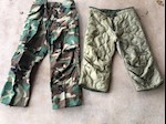Army Issue Woodland BDU Field Pants with Liner Option THUMBNAIL