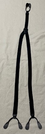 Army ASU & Dress Blue Suspenders Leather Ends THUMBNAIL