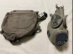 Size Large Military M10 Gas Mask with hydration tubing, installed filters & case THUMBNAIL