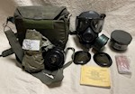 1  Large UNUSED USGI M40 Series Gas Mask COMPLETE KIT THUMBNAIL