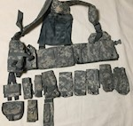 Army Issue ACU Digital Load Carrying Vest with 12 Pouches THUMBNAIL
