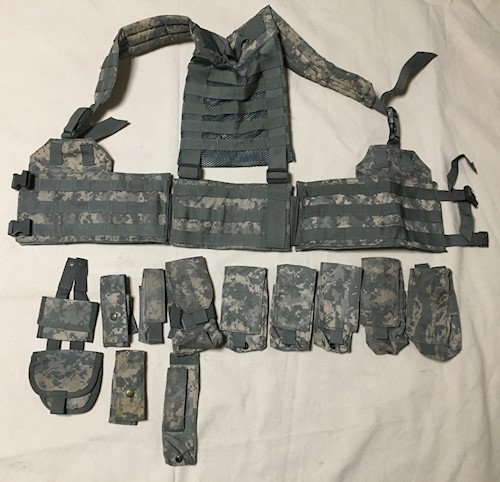 Army Issue ACU Digital Load Carrying Vest with 12 Pouches SWATCH
