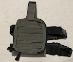 Paraclete SOF Individual First Aid Pouch on drop leg panel Smoke Green THUMBNAIL