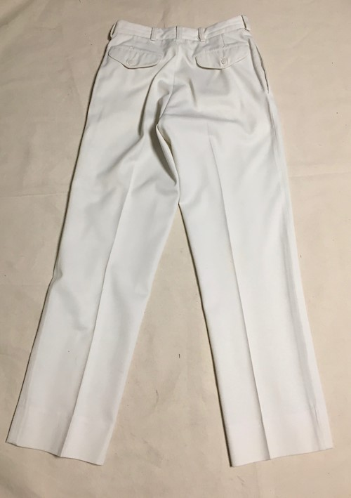 Navy Officer Dress White Pants Cone Fabric Wash & Wear 65% Dacron Poly, 35% Rayon SWATCH