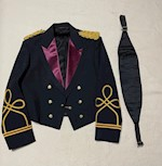 Army Mess Dress Jacket with Army Gold Bullion Dress Knots & Cummerbund THUMBNAIL
