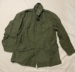 1967 Vietnam OG-107 Sateen Field Jacket M65 UNUSED! Large/Long THUMBNAIL