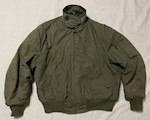 Army Aramid Non Melting CVC Insulated Cold Weather Tanker Flight Jacket Size XL THUMBNAIL