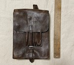 Collectible WWII German Luftwaffe Leather Cavalary Map Document Case THUMBNAIL