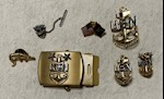 US Navy Petty Officer Master Chief Belt Buckle, Tie Pin & 4 Other Pins THUMBNAIL