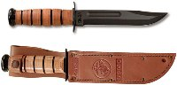 "USMC or US Army KA-BAR Knives Full Size Fighting Knife 7"" Fixed Plain Edge"