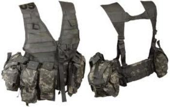 ACU MOLLE USGI Fighting Load Carrier Vest FLC  with 5 pouches