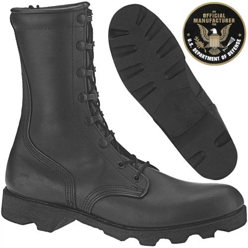 Belleville Speedlace Leather Combat Boot Black MAIN