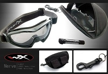 44104026011d Wiley-X Nerve Tactical Goggles w Interchangeable Lenses