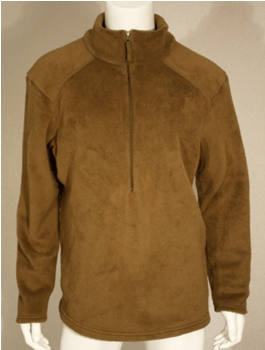 Sekri Halys PCU Generation II Level 3 High-Loft BROWN Fleece Jacket 3/4 Zipper Pullover_LARGE