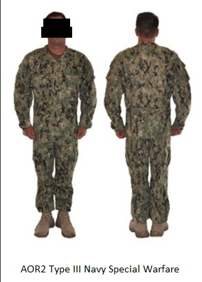 US Navy AOR 2 Type III NWU Combat Uniforms