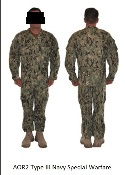 US Navy AOR 2 Type III NWU Combat Uniforms SEABEE