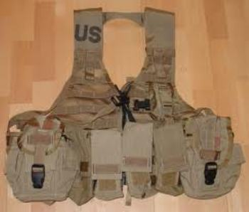 Tactical Zipper FLC Molle Vest with 5 pouches Desert LARGE