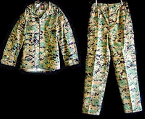 Female Marine Corp MCCUU Woodland Digital MARPAT Uniforms SWATCH