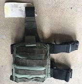 Paraclete SOF Individual Aid Pouch on drop leg panel with supplies