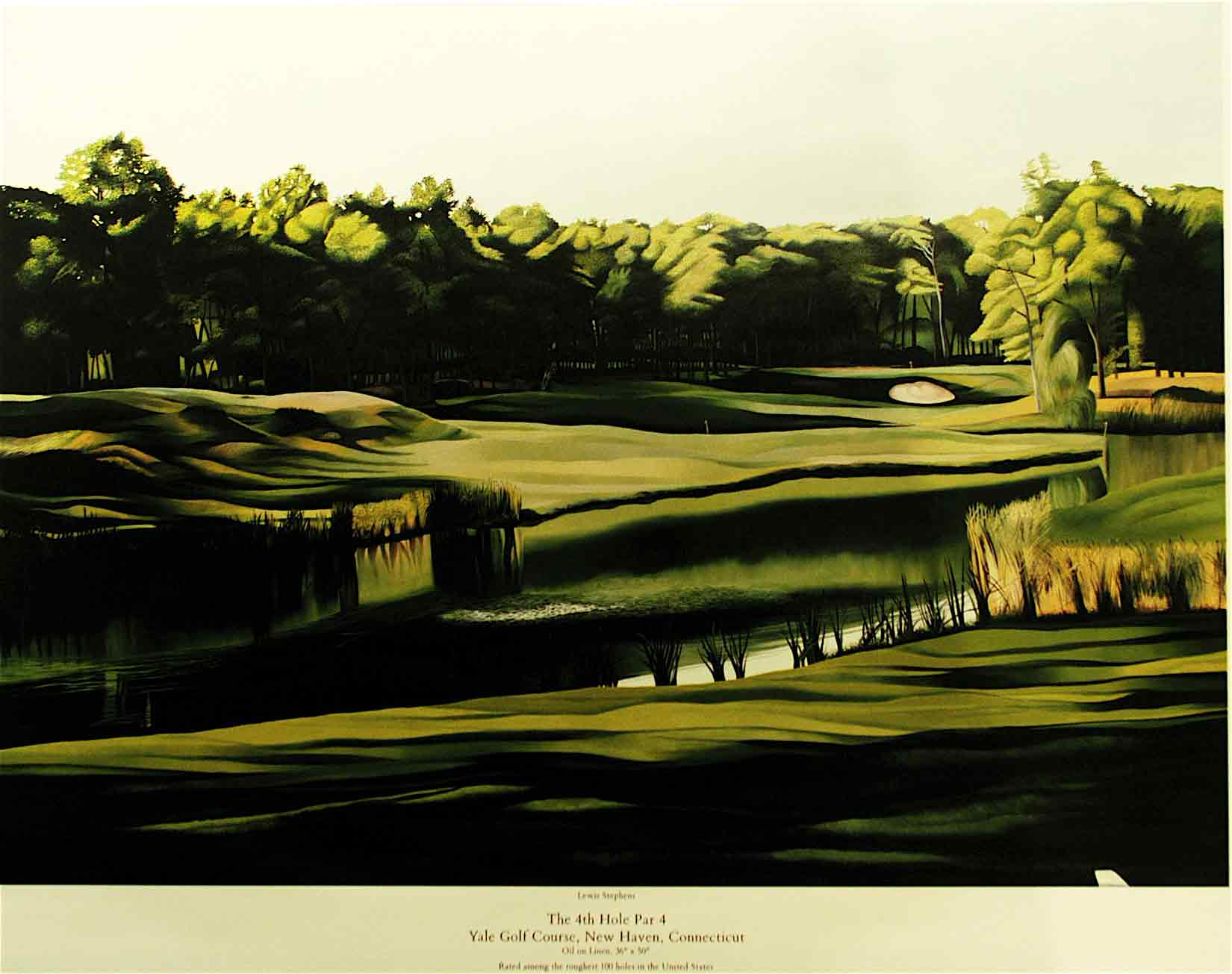 Yale Golf Course 4th Hole Road Golf Art Com Online Store
