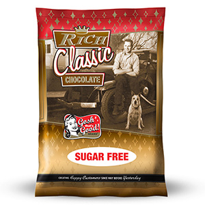 SUGAR FREE Rich Classic Chocolate<br> 2 lb. Bag - Consumer