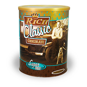 Vintage SUGAR FREE Rich Classic Chocolate<br> 2 lb. Can - Consumer