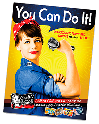 You Can Do It! - Retro Poster THUMBNAIL
