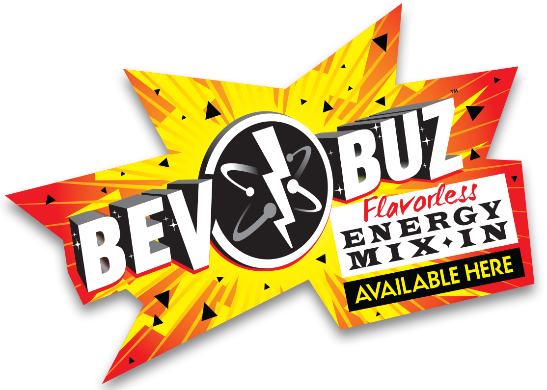 Bev Buz™<br>Available Here! Window Cling THUMBNAIL