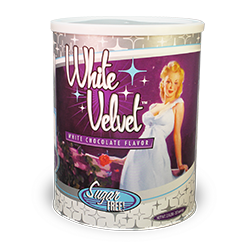 Vintage Sugar Free White Velvet Chocolate - 2.5 lb. Can MAIN
