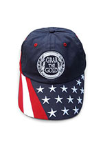 Grab The Gold® USA Flag Cap
