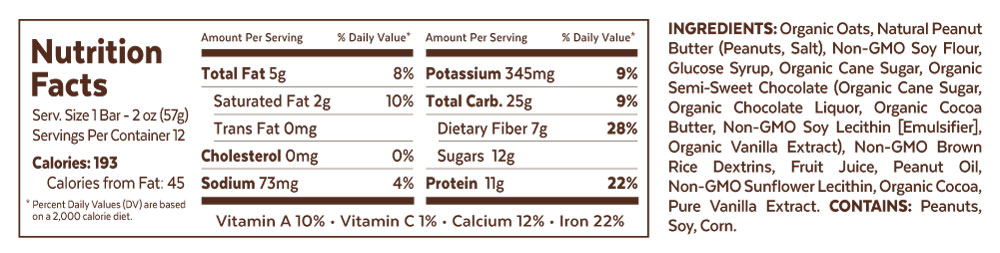 Grab The Gold Nutrition Facts