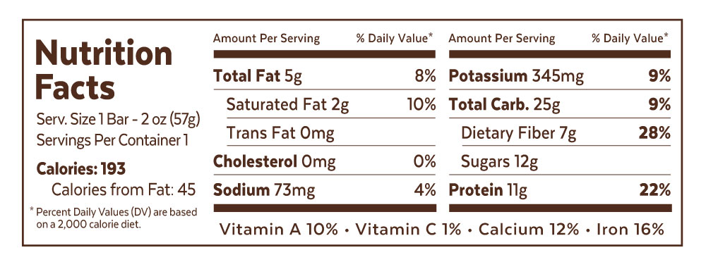 Grab The Gold Chocolate Peanut Butter Single Bar Nutrition Facts