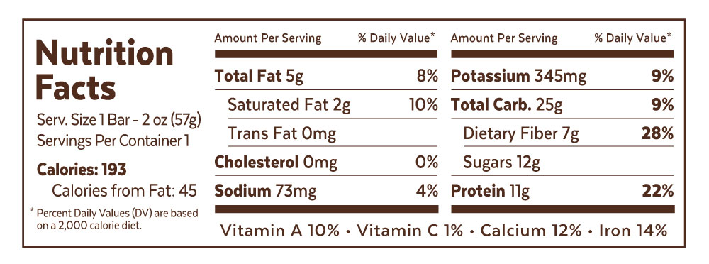 Grab The Gold Peanut Butter and Jelly Single Bar Nutrition Facts