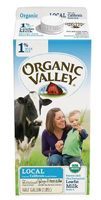 Organic Valley 1% Milk, 1/2 Gal. LARGE