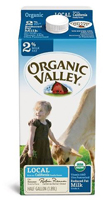 Organic Valley 2% Milk, 1/2 Gal. LARGE