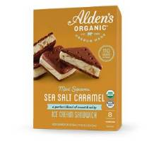 Alden's Organic Sea Salt Caramel Ice Cream Sandwich Squares, 8-2oz. MAIN
