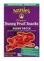 Annie's Organic Berry Patch Bunny Fruit Snacks, 5-0.8oz. packs LARGE