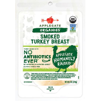 Applegate Organic Smoked Turkey Breast, 6 oz. LARGE