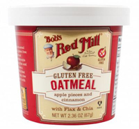 Bob's Gluten Free Apple Cinnamon Oatmeal Cup, 2.3 oz. MAIN